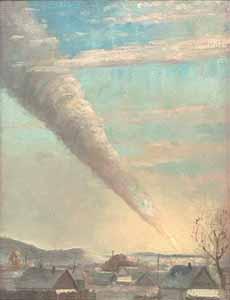 падение Сихотэ-Алинского метеорита, кликни чтобы увеличить